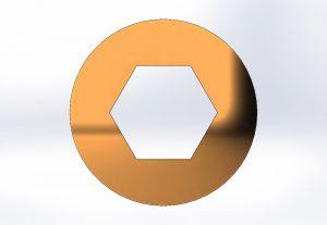 Skizze eines Sechskantprofils