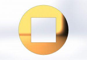 Skizze eines Vierkantprofils